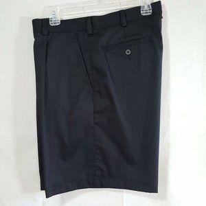 Nike Golf Black Shorts 36 Cotton Blend Casual Plea